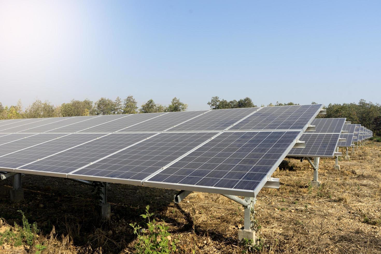 zonnepark dat groene energie levert foto