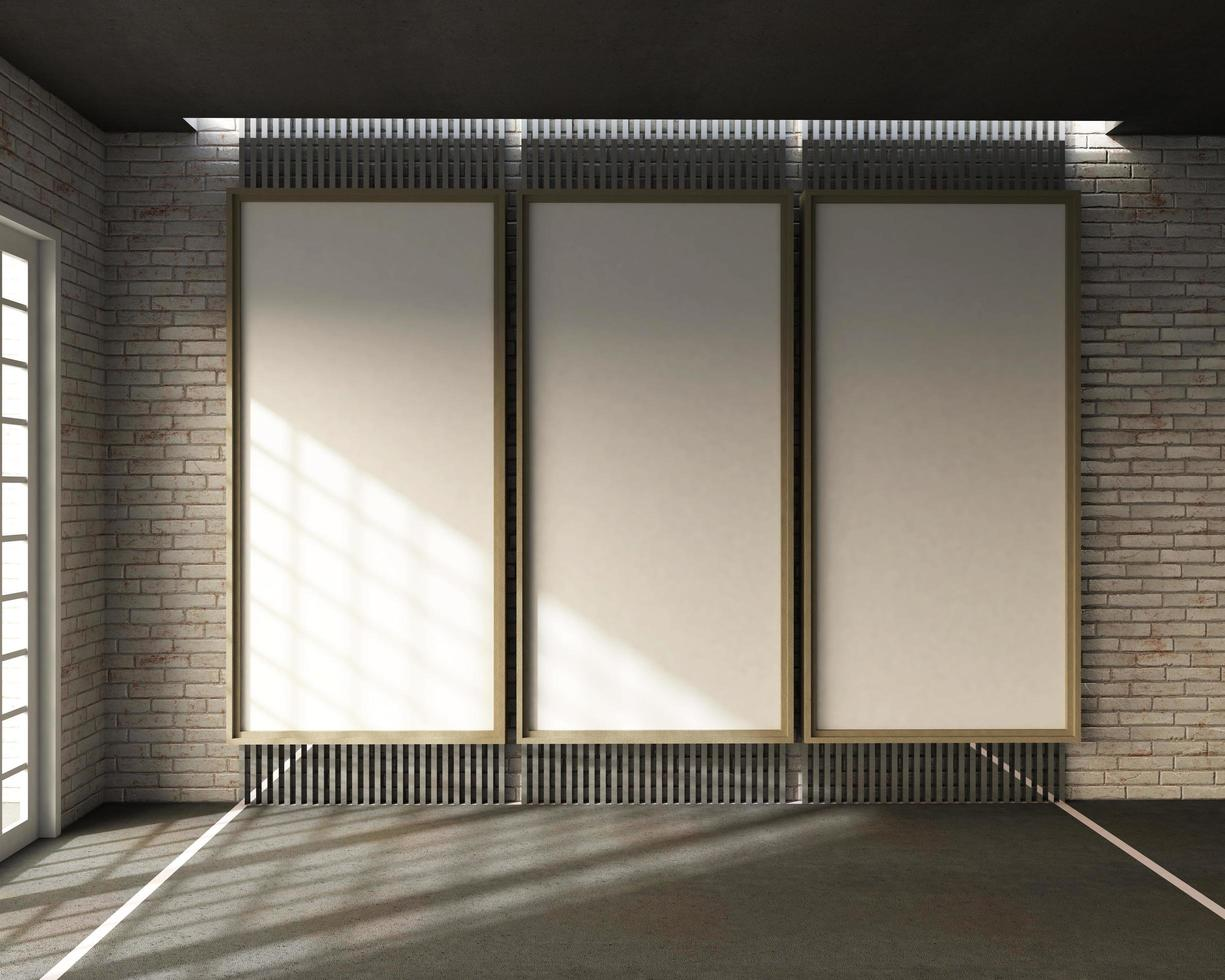 3D-weergave van loft-stijl klaslokaal foto