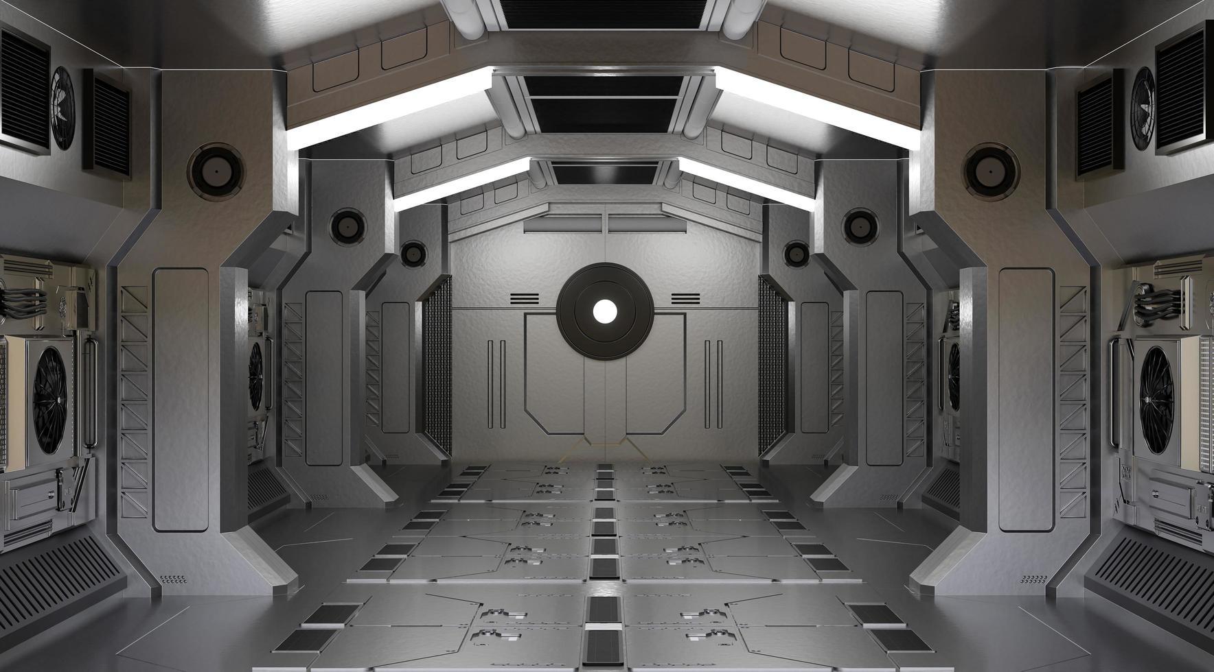 3D-weergave van een ruimteschiptunnel foto