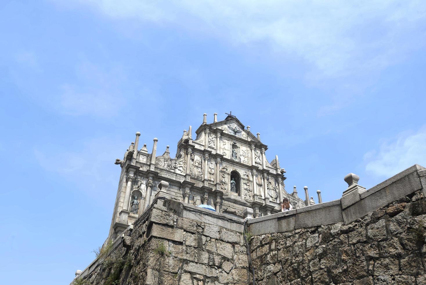 ruïnes bij st. paul kerk in macau stad foto