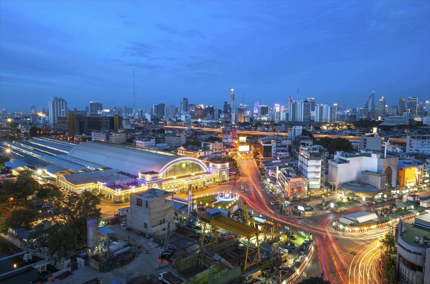treinstation van bangkok foto