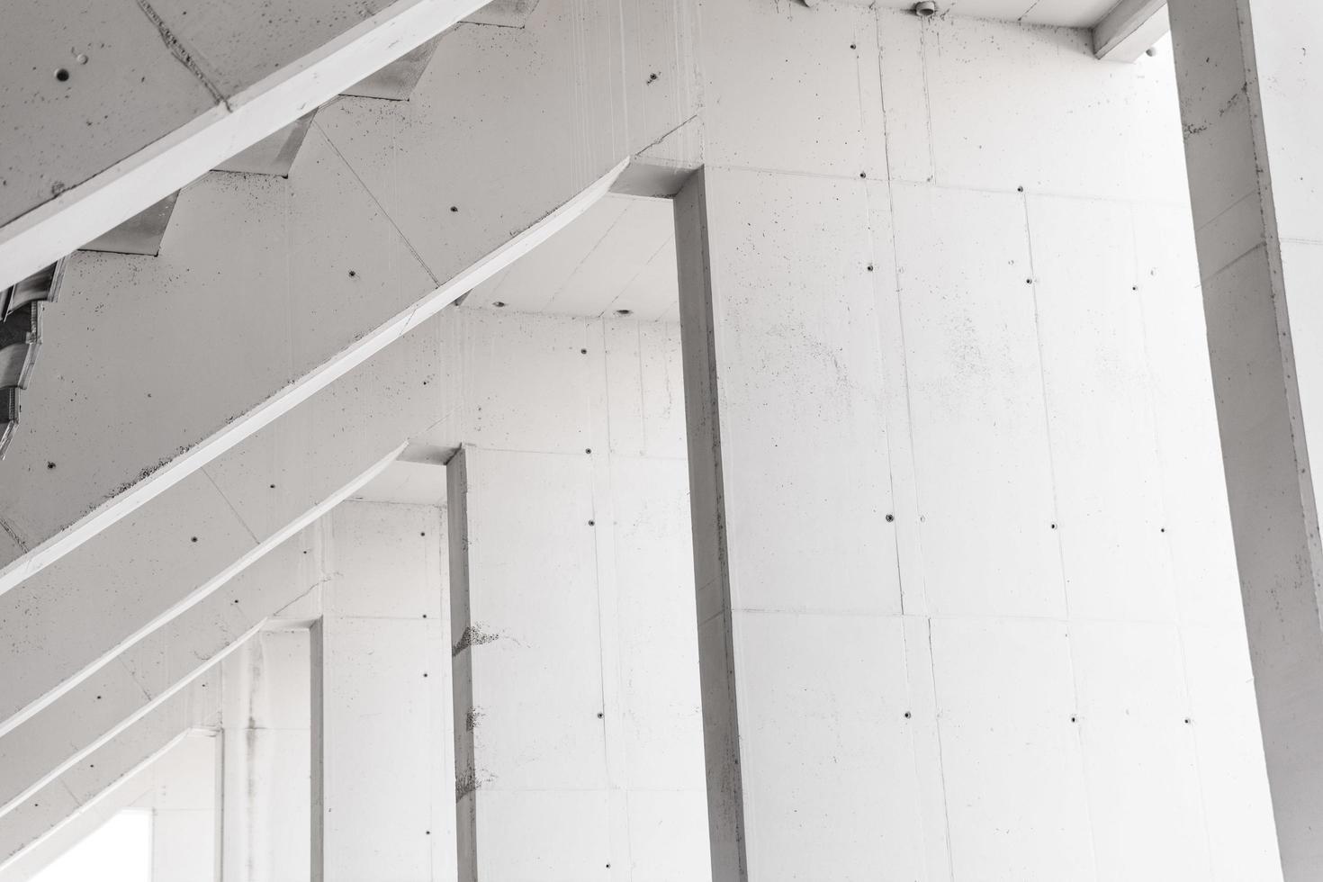 wit geschilderde muur foto
