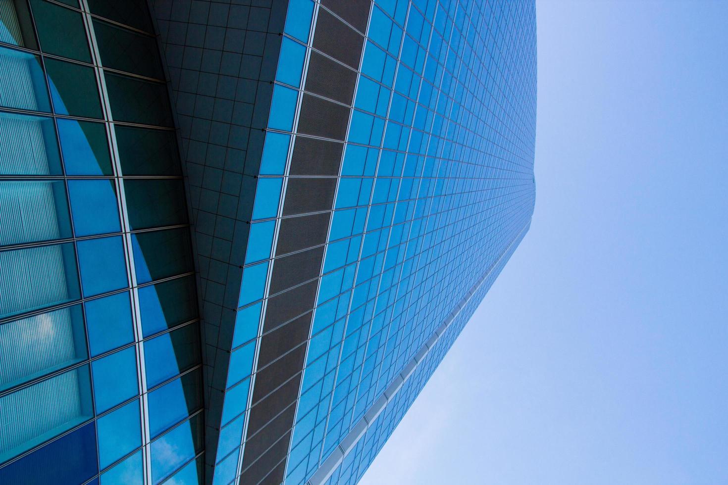 lage hoekmening van gebouw foto