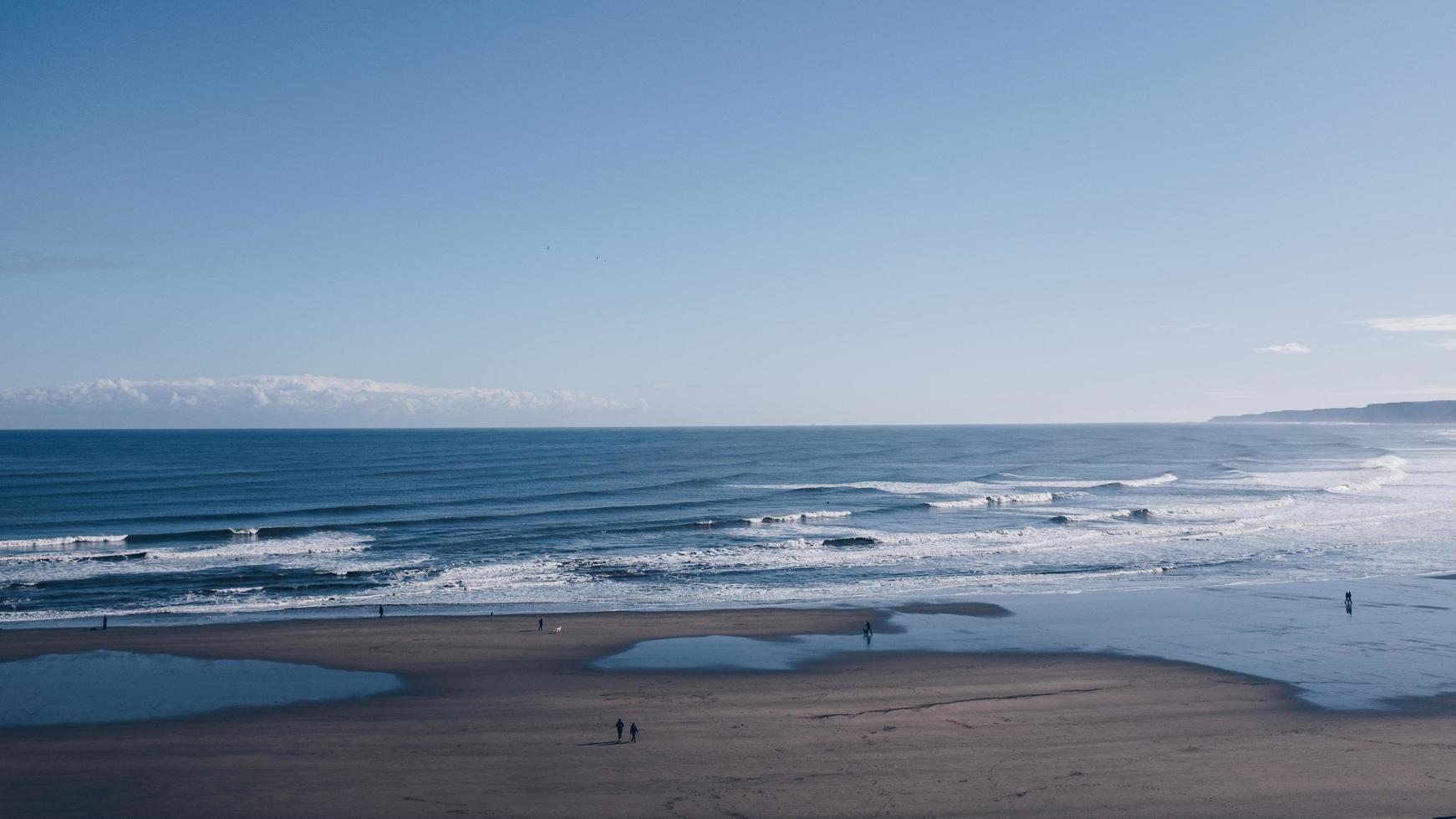 landschapsmening van strand foto