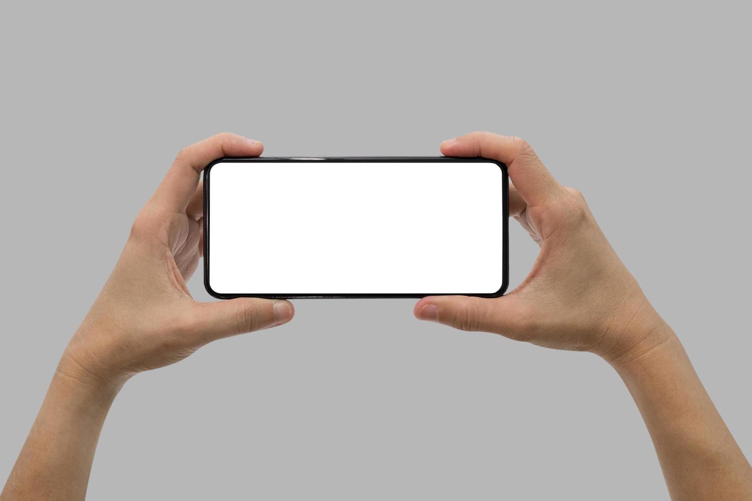 handen met smartphone foto