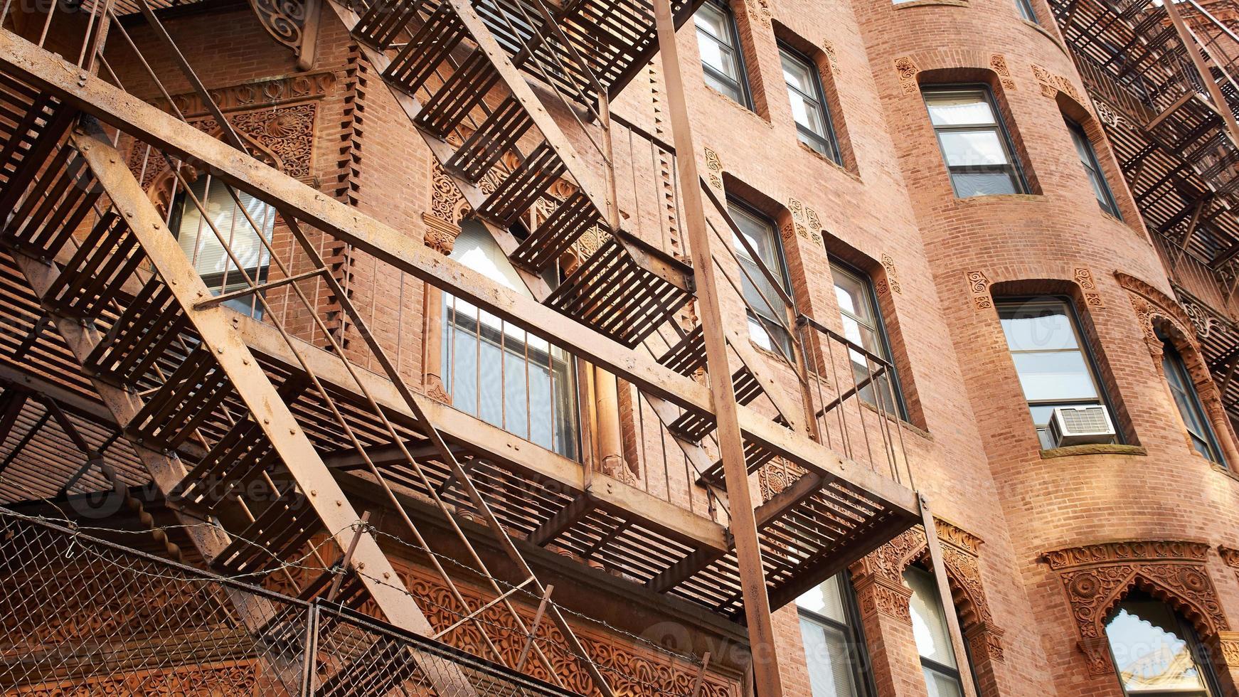 woongebouwen in Boston foto