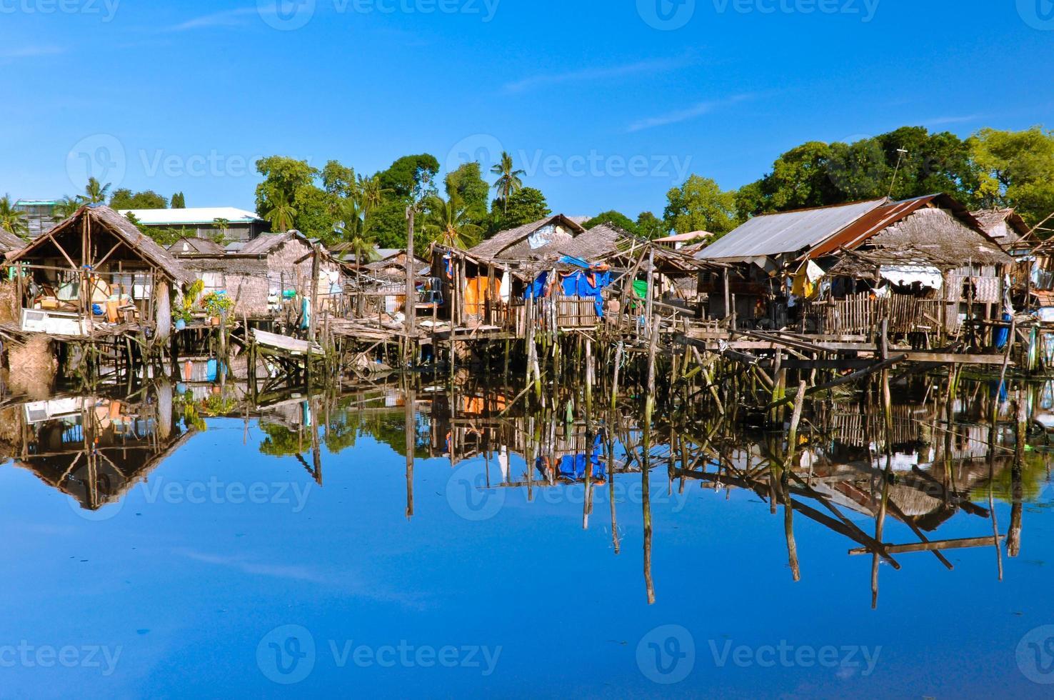 sloppenwijken op water foto
