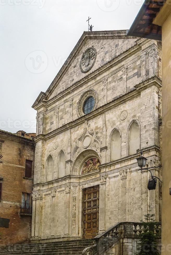 kerk van st Augustine, montepulciano, Italië foto