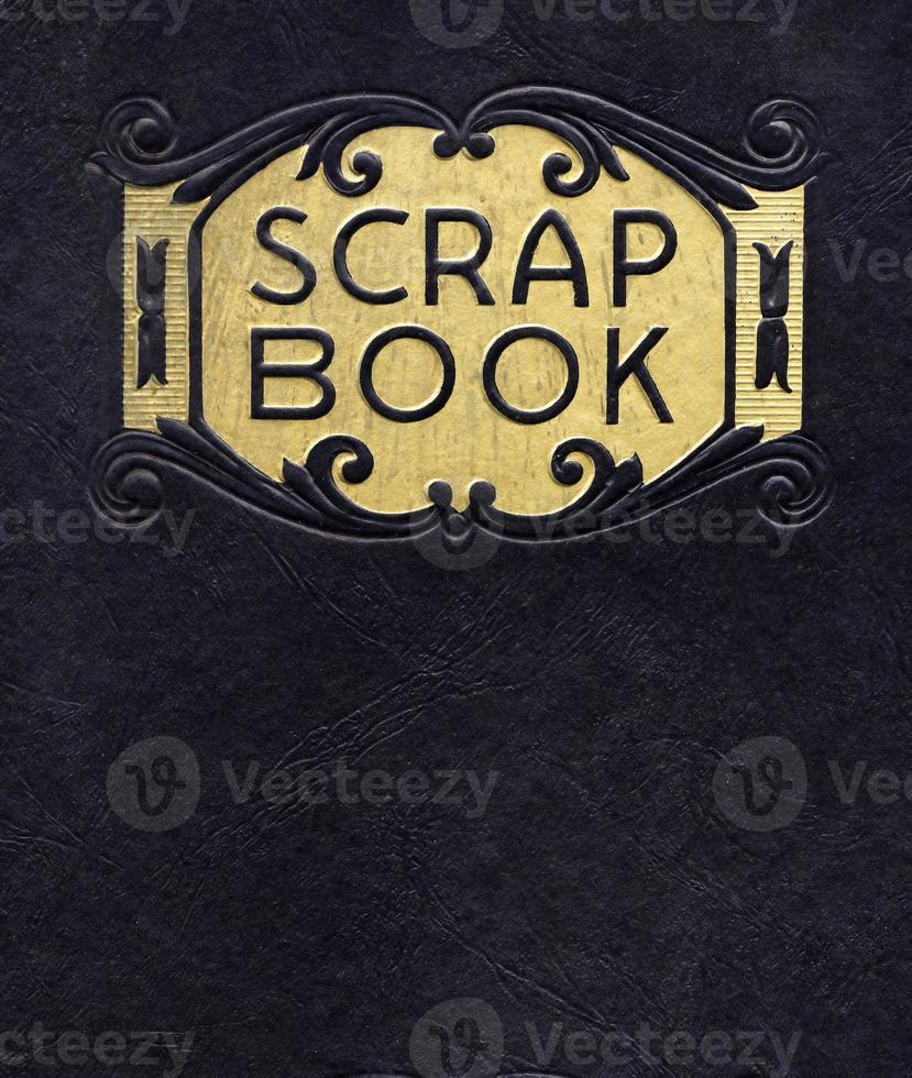 antiek plakboek, circa 1890 (niet langer auteursrechtelijk beschermd) foto
