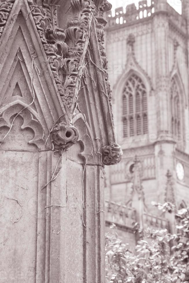 St Luke's Church Ruins, Liverpool, Engeland foto