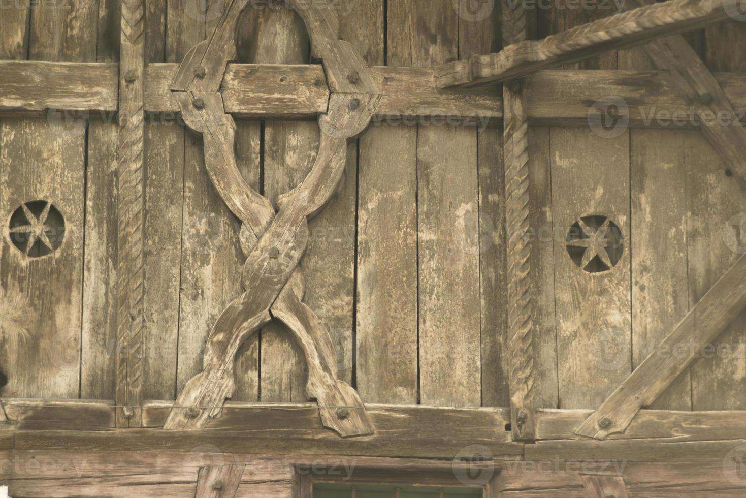 oude houten gevel foto
