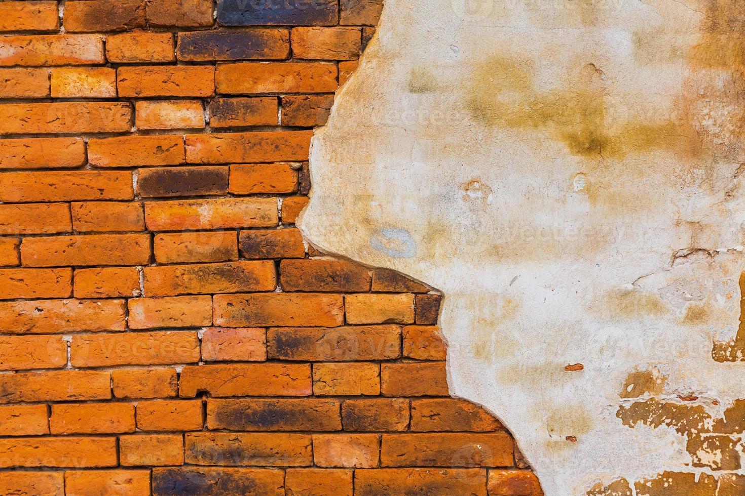 gebarsten betonnen vintage bakstenen muur achtergrond foto