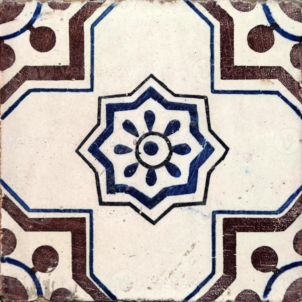 traditionele tegels uit porto, portugal foto
