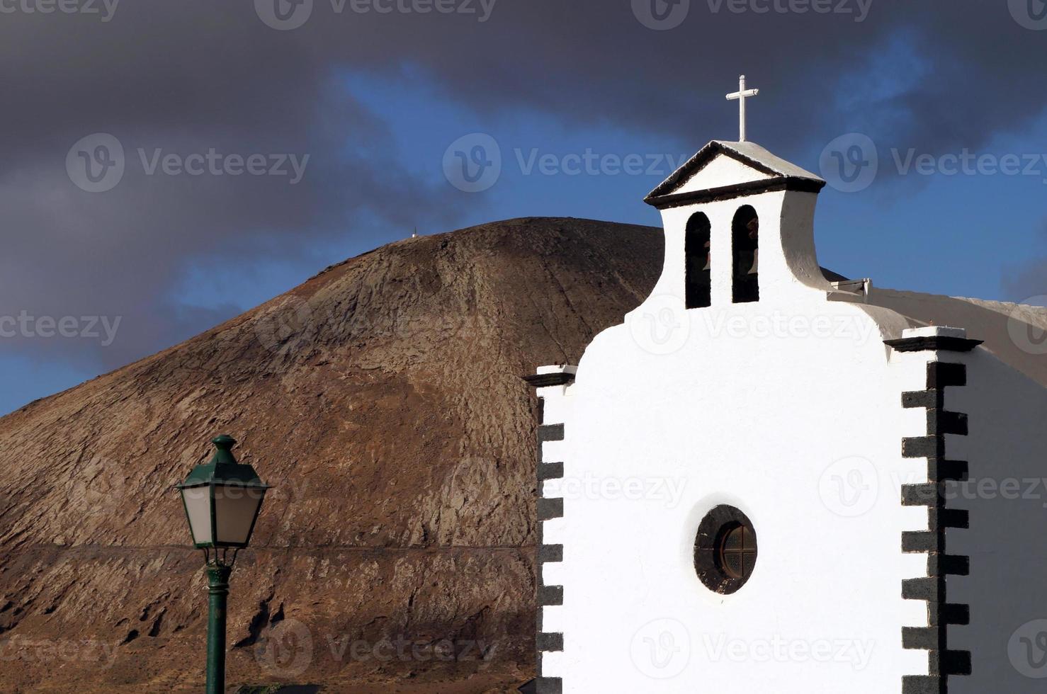 spanje, canarische eilanden, lanzarote, kapel foto