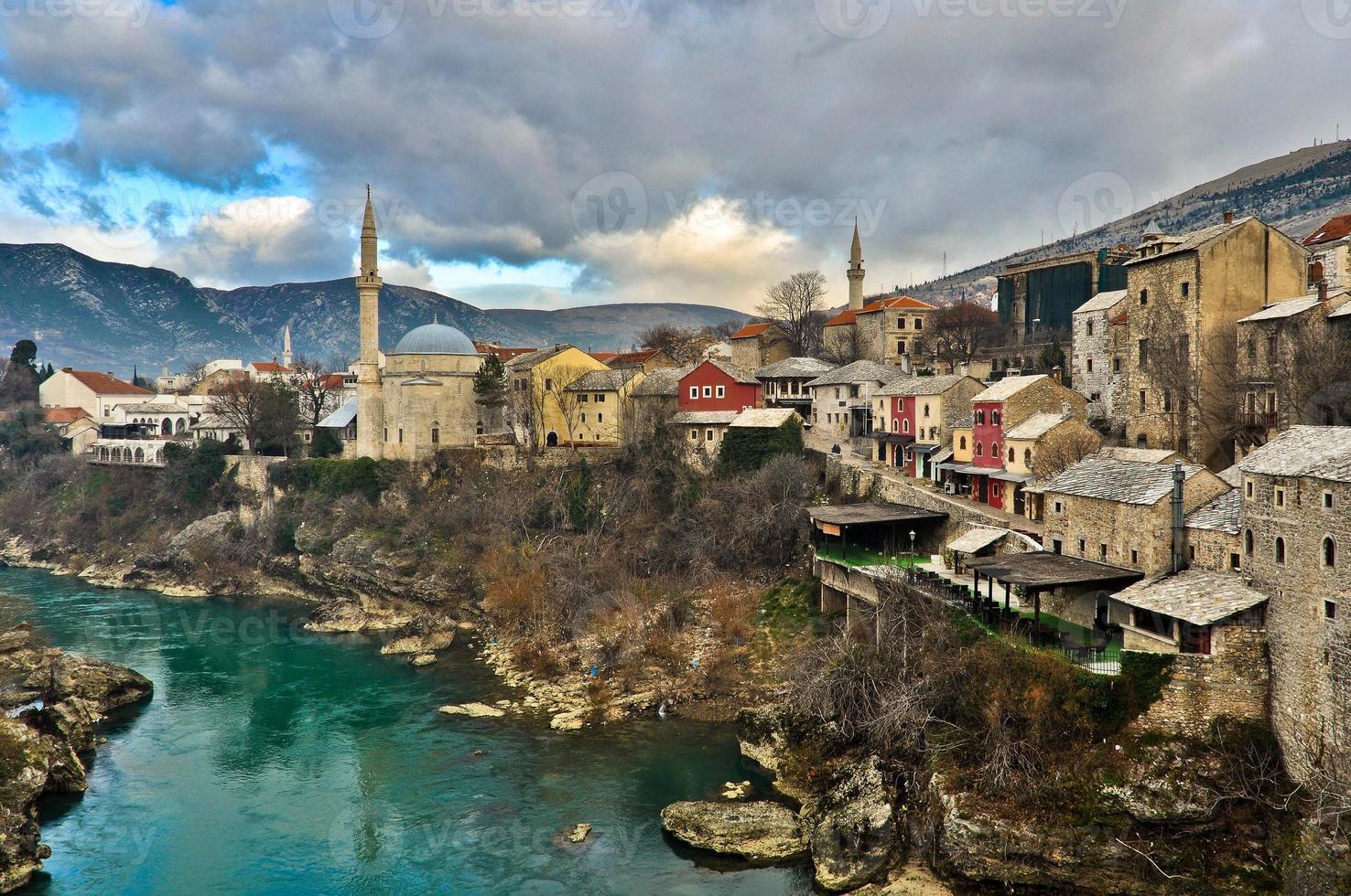 Mostar oude stadsarchitectuur foto