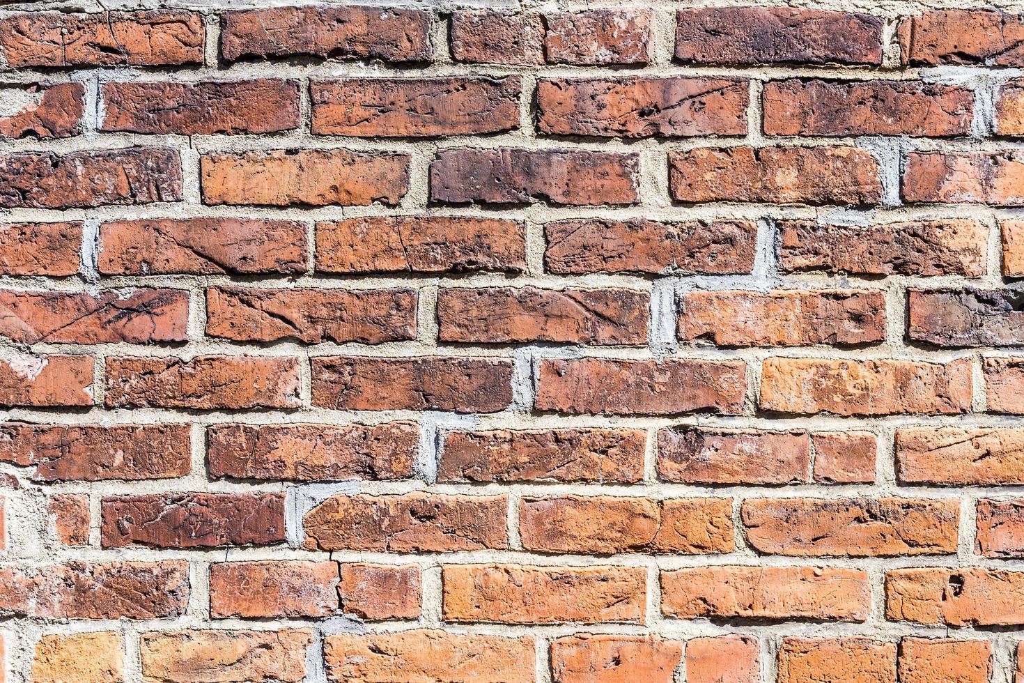 fragment van rode bakstenen muur foto