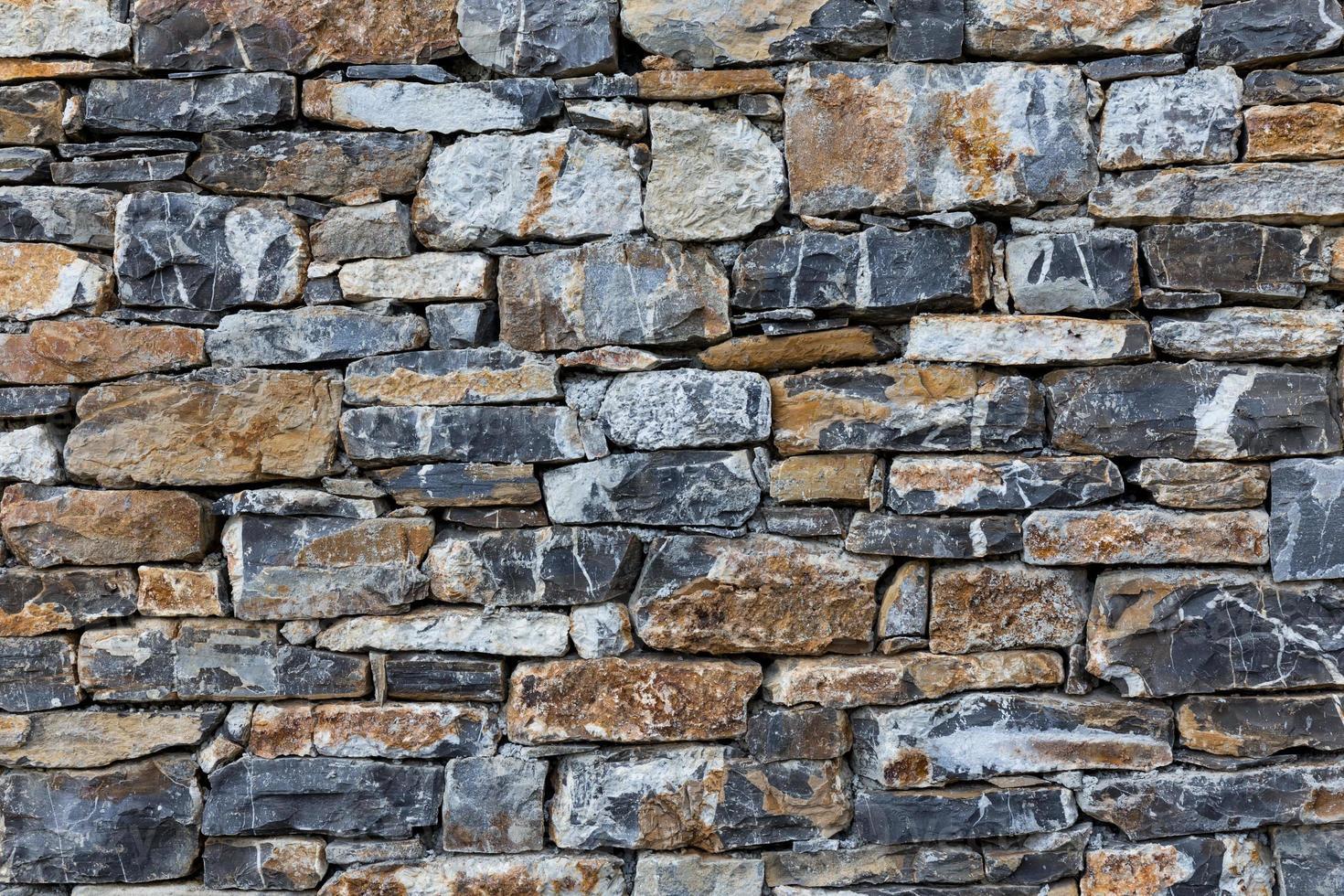muur van stenen als textuur foto