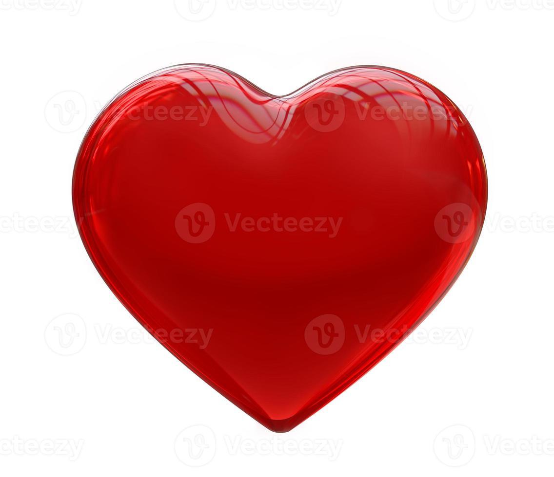 rood hart foto