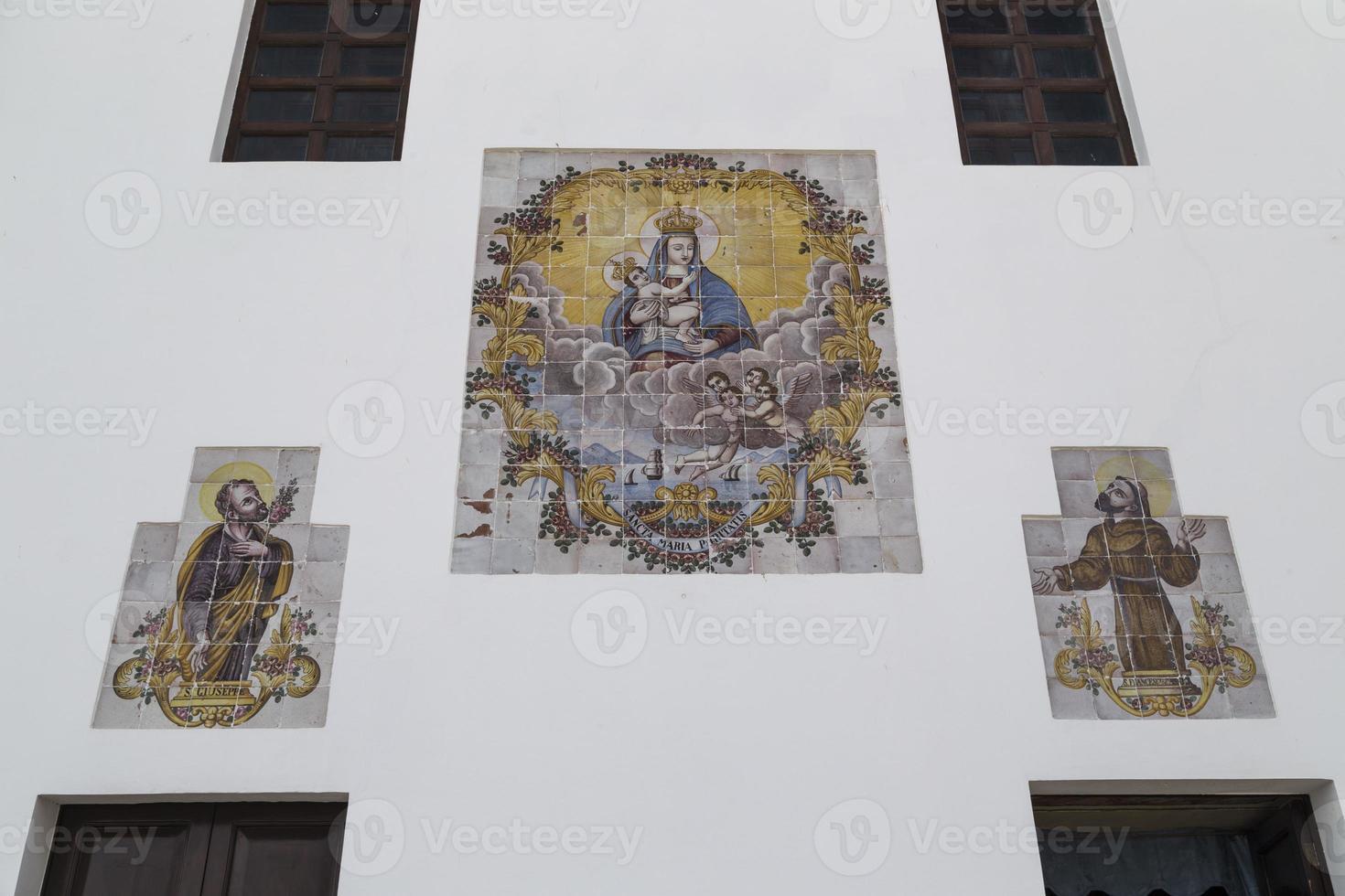 schilderijen op de kerk la puritate in gallipoli (le) foto