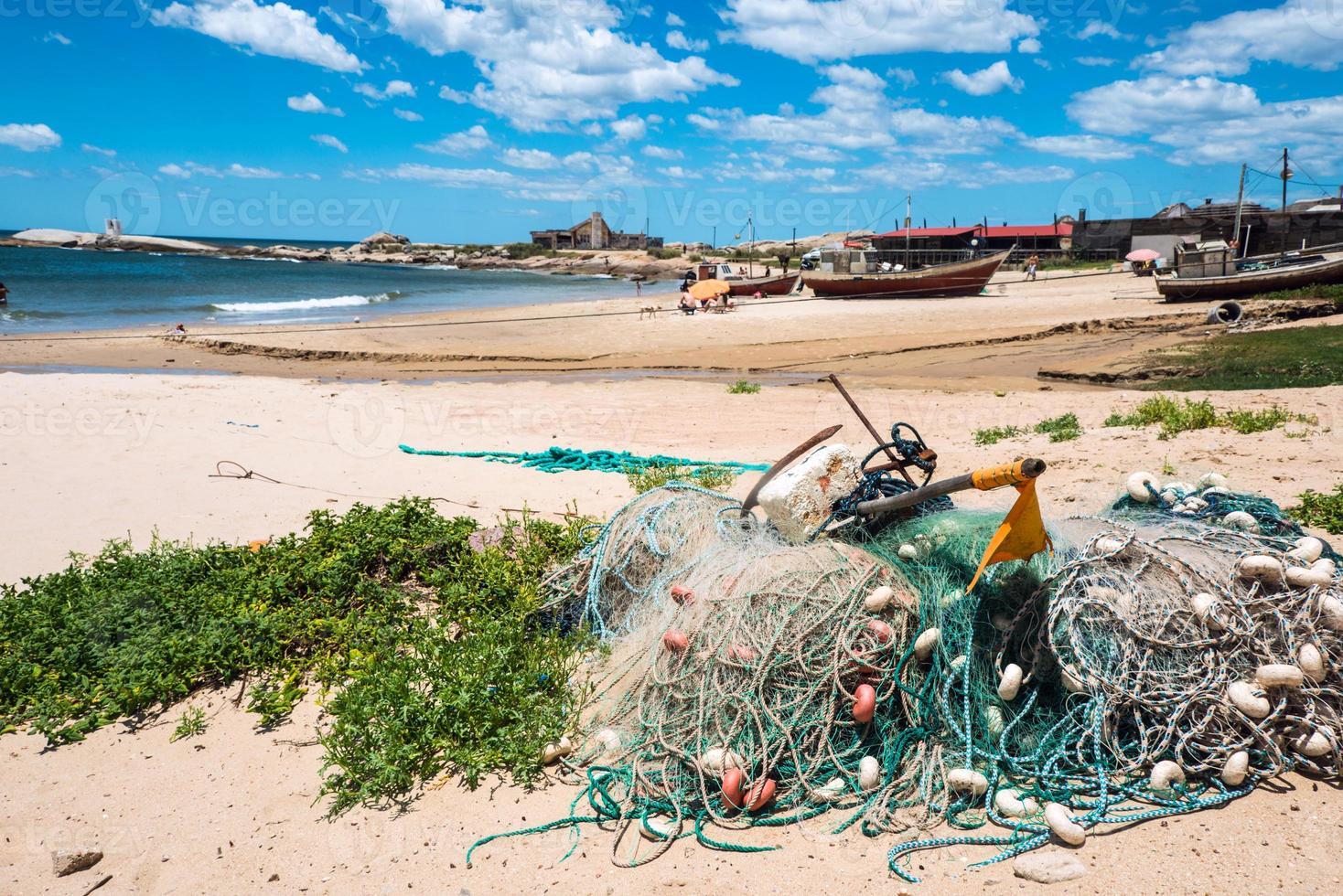 punta del diablo strand, kust van uruguay foto