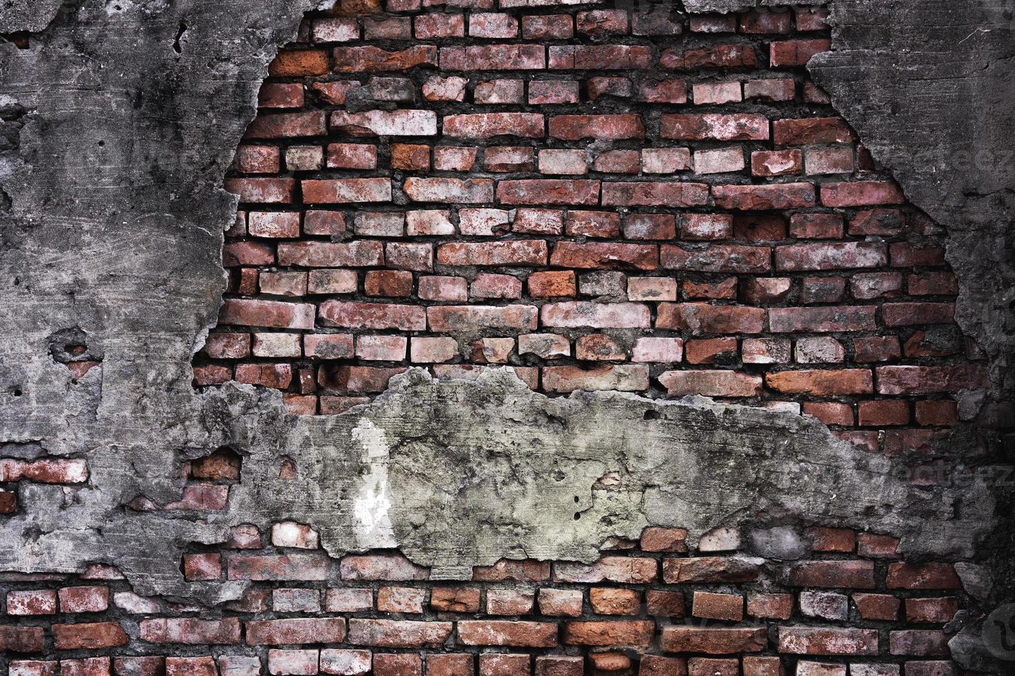 oude grunge bakstenen muur achtergrond foto