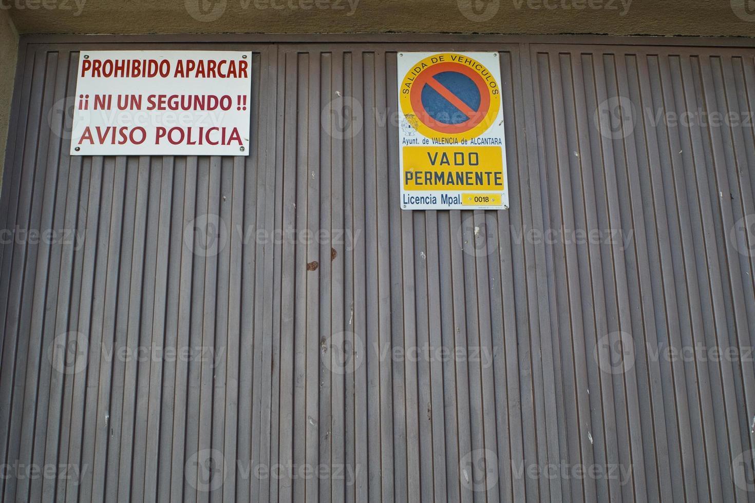 verbod aparcar foto