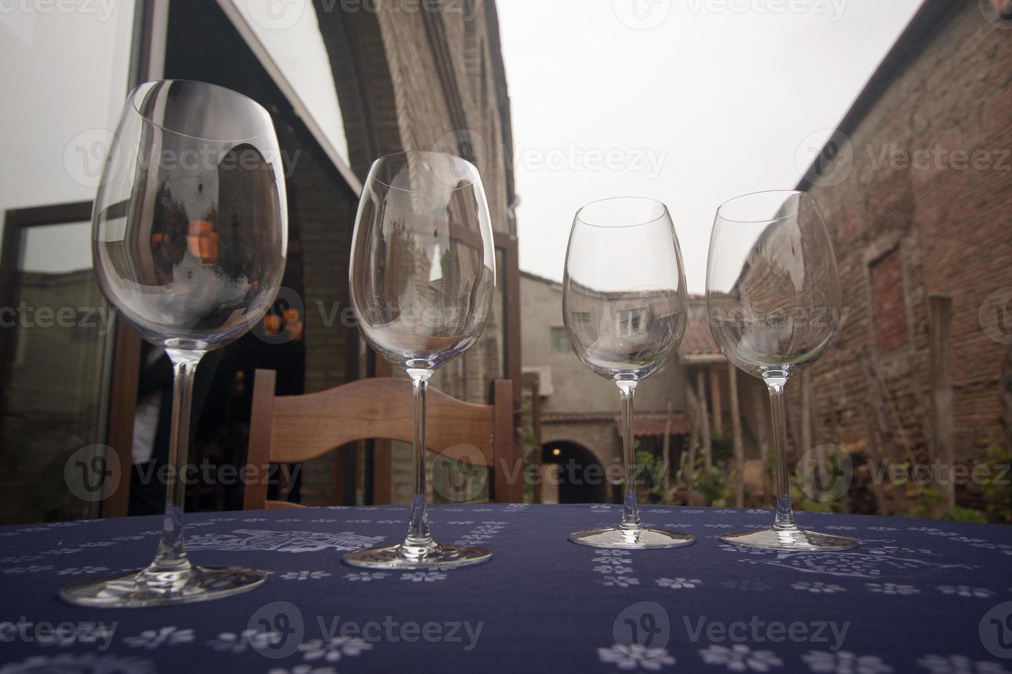de wijnglazen. foto