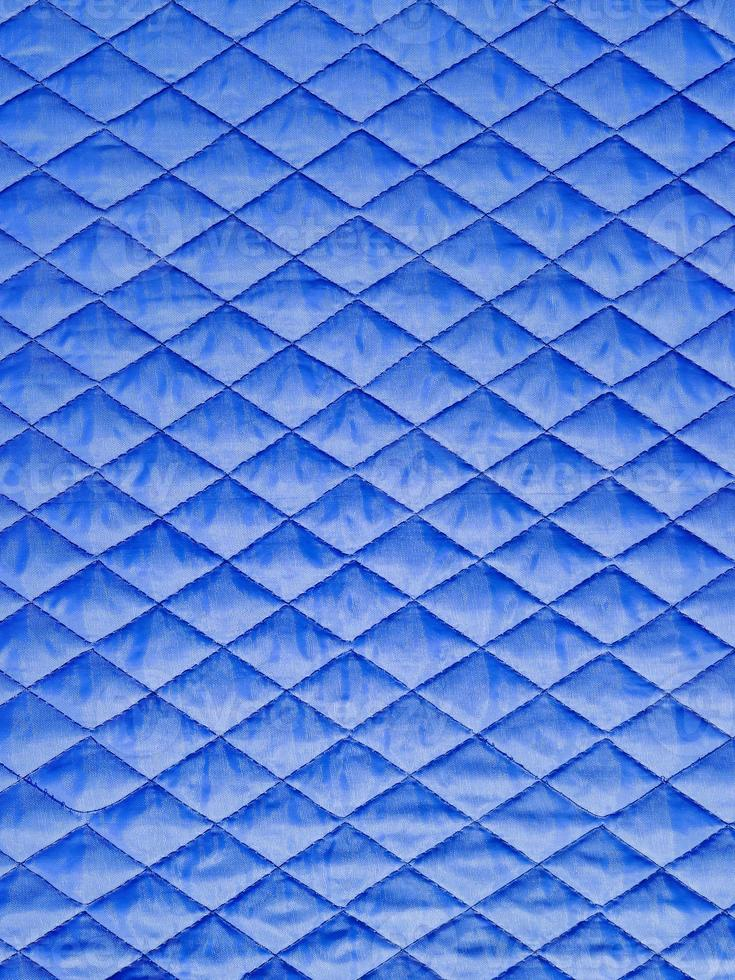 blauw weefsel met ruit foto
