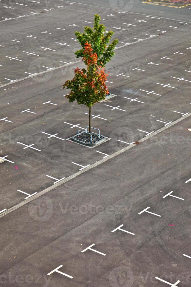 gemarkeerde parkeerplaats zonder auto's foto