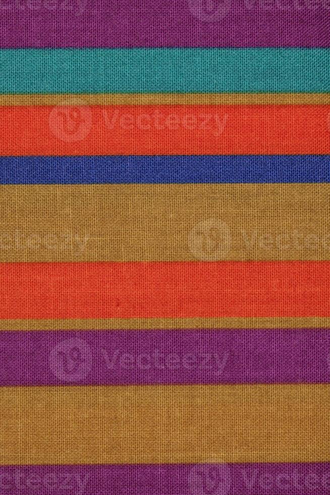gekleurde gestreepte stof foto