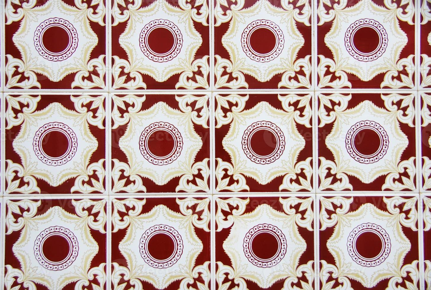 detail van portugese tegels. foto