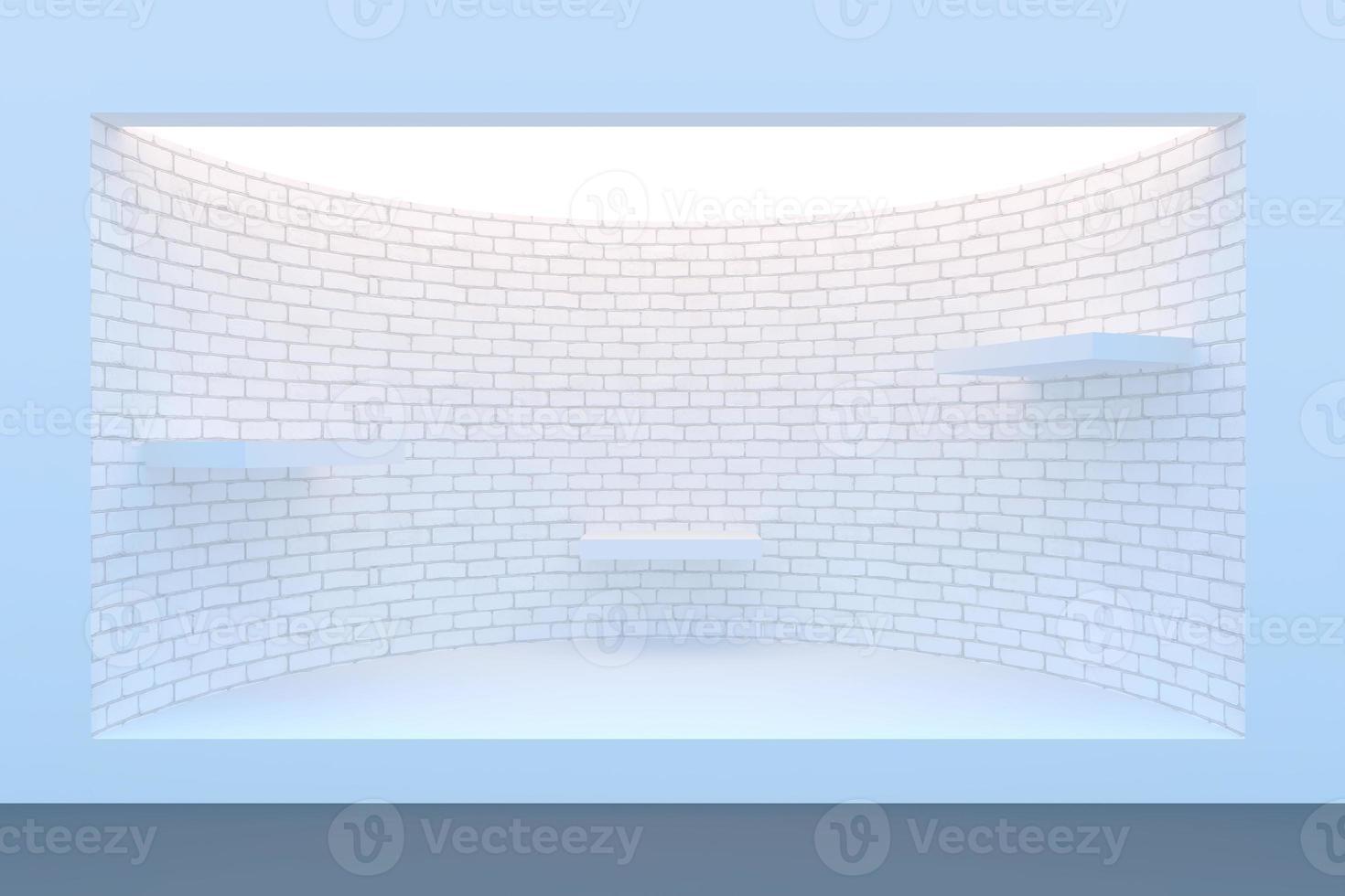 lege cirkel storefront of podium met verlichting foto