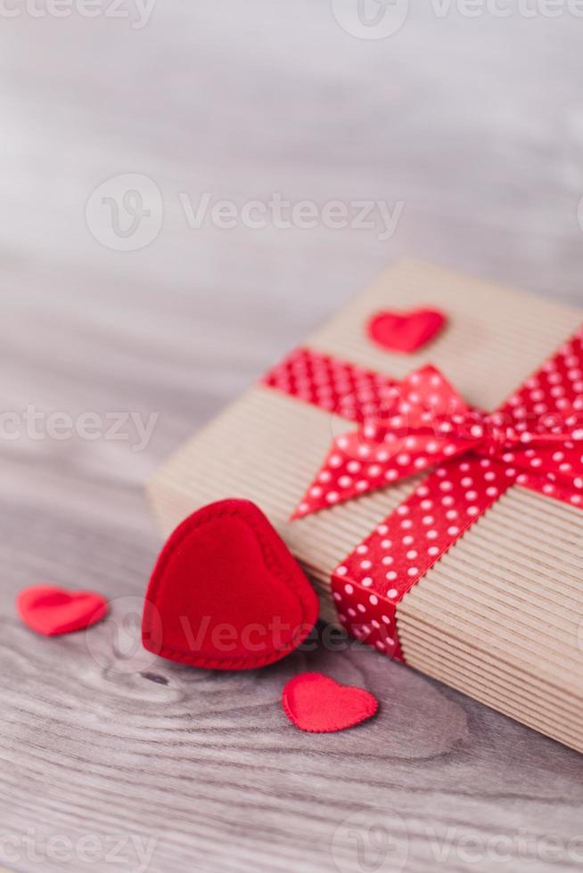 Valentijnsdag decoraties op hout foto