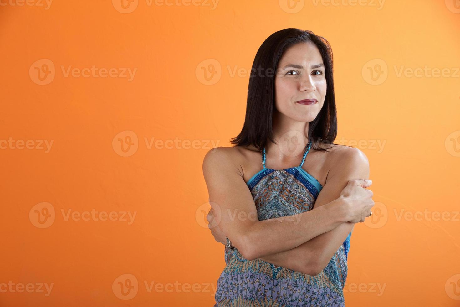 zelfverzekerde vrouw foto