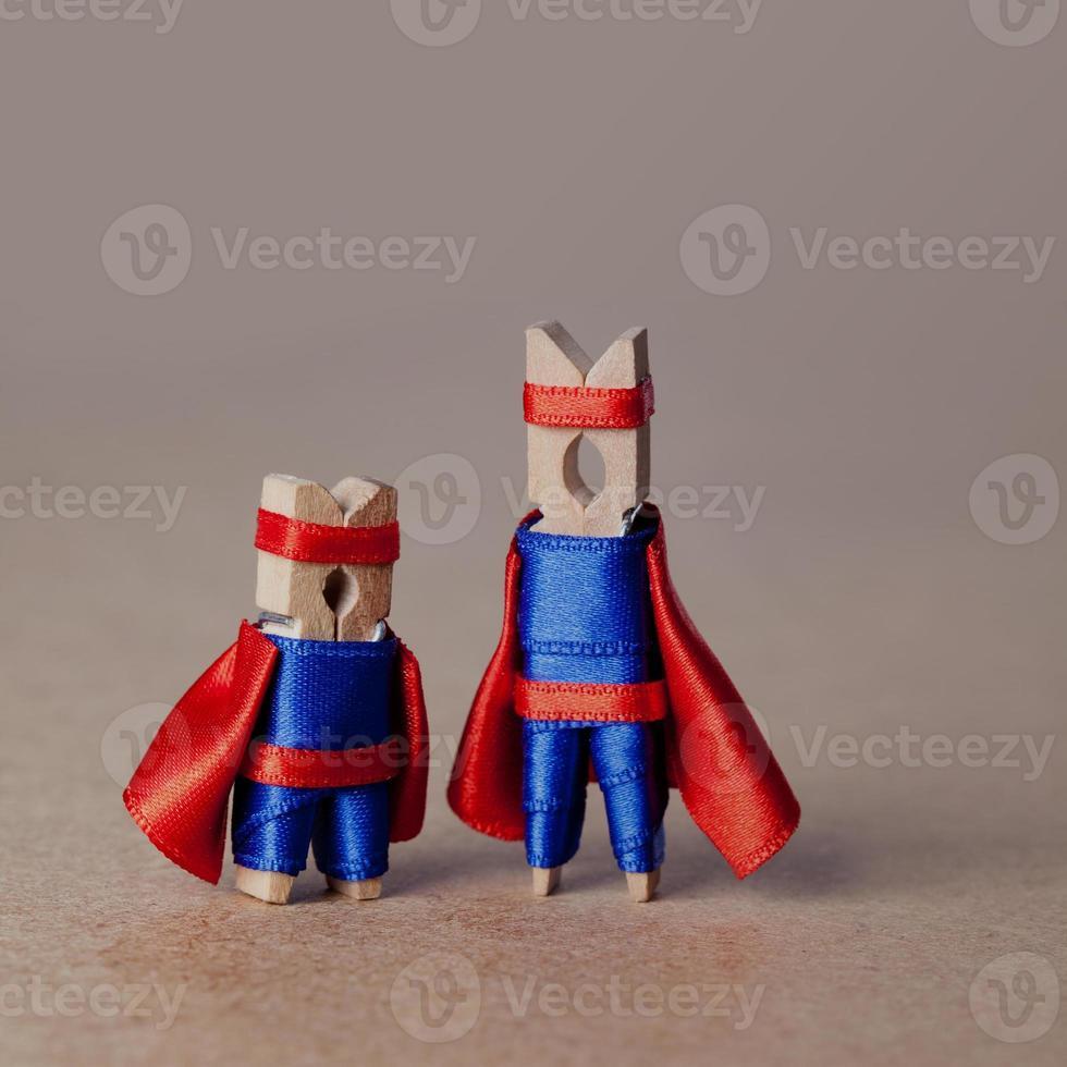 wasknijpers. superhelden foto