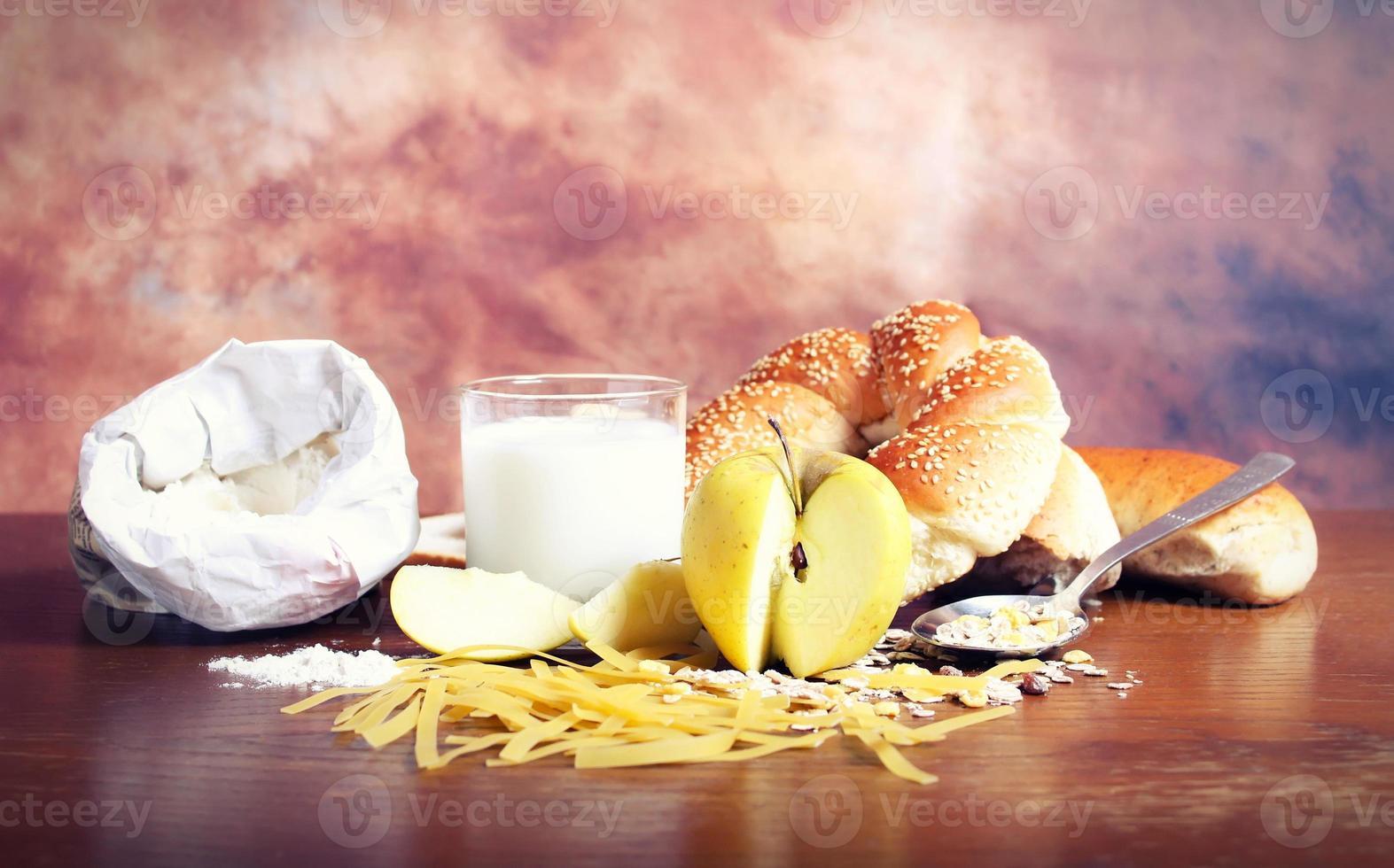 gezonde biologische maaltijd foto
