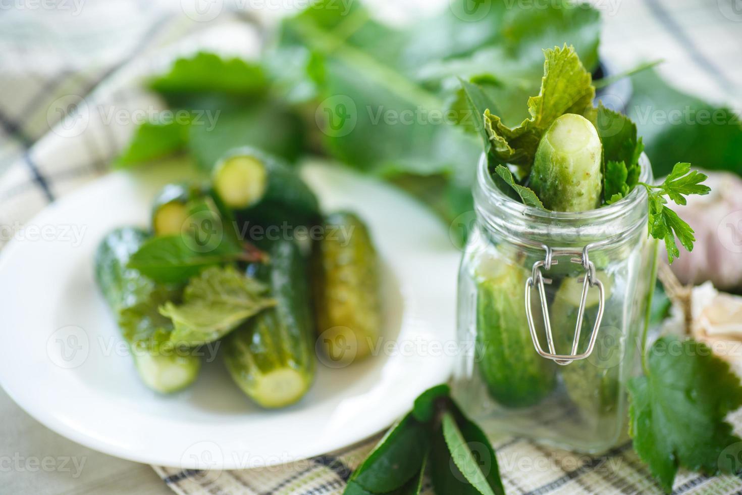 gezouten komkommer foto