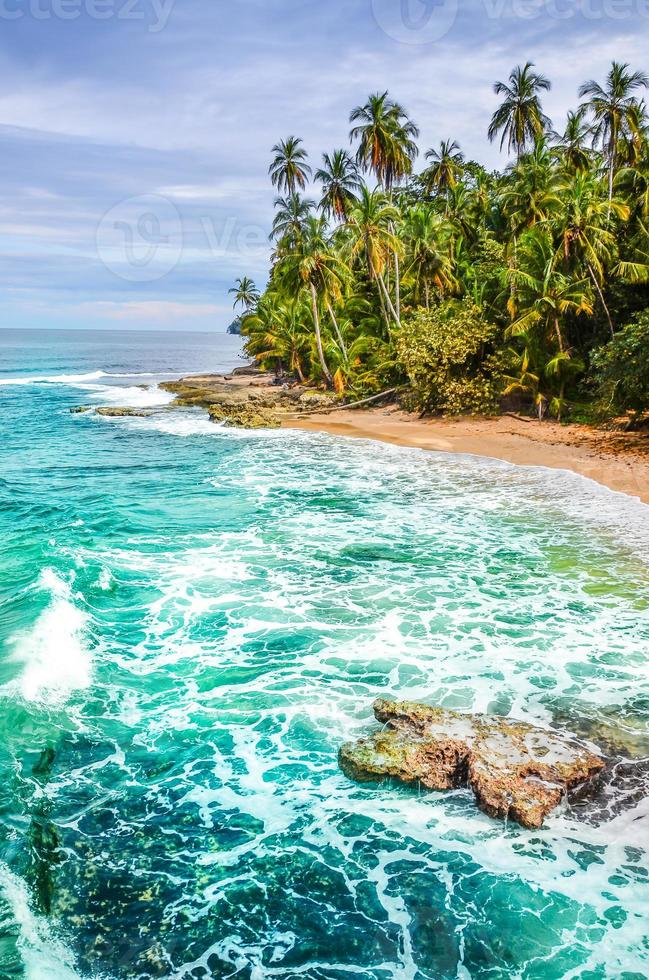 wild caribisch strand van costa rica - manzanillo foto