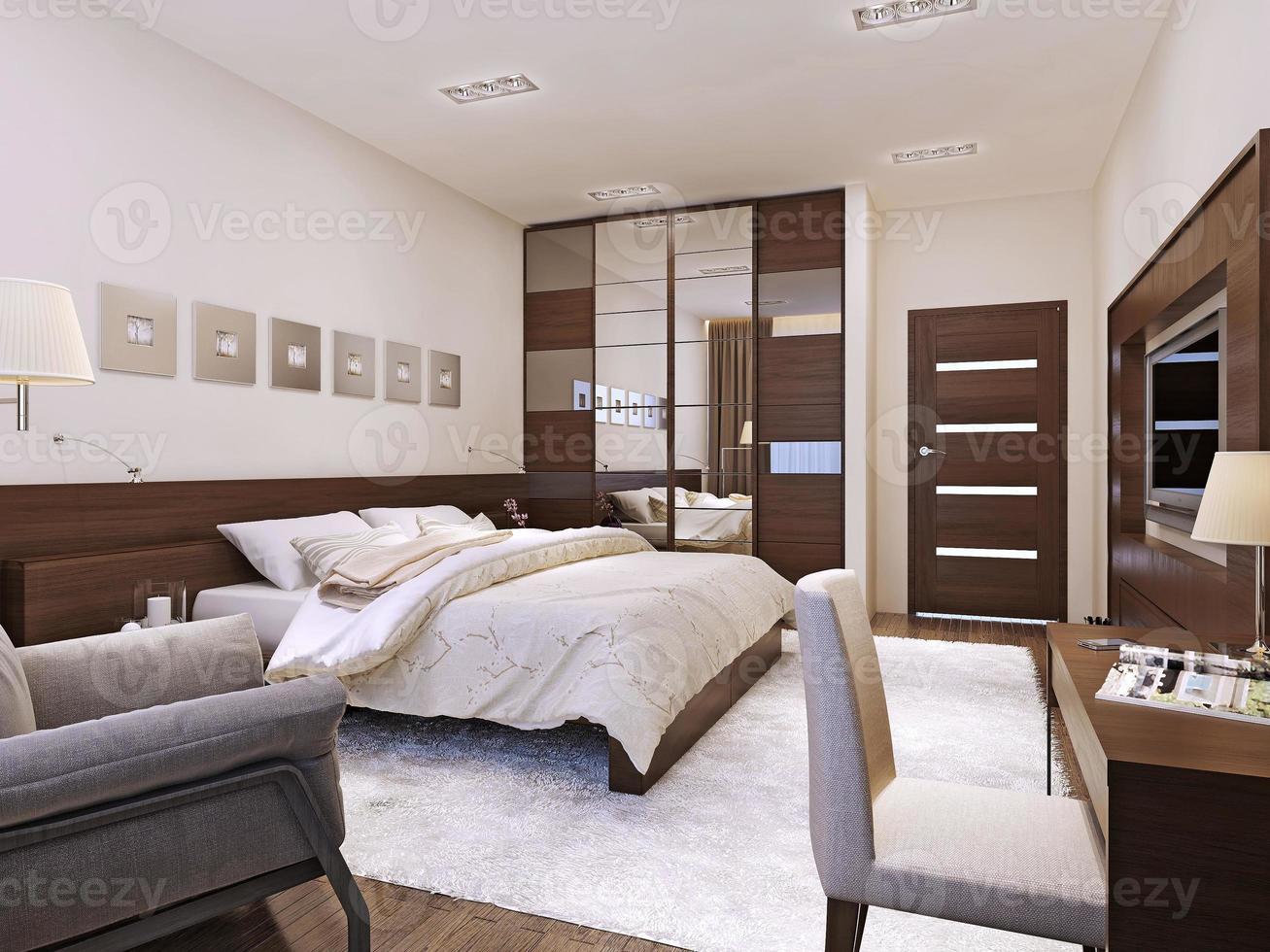 slaapkamer interieur avant-garde stijl foto