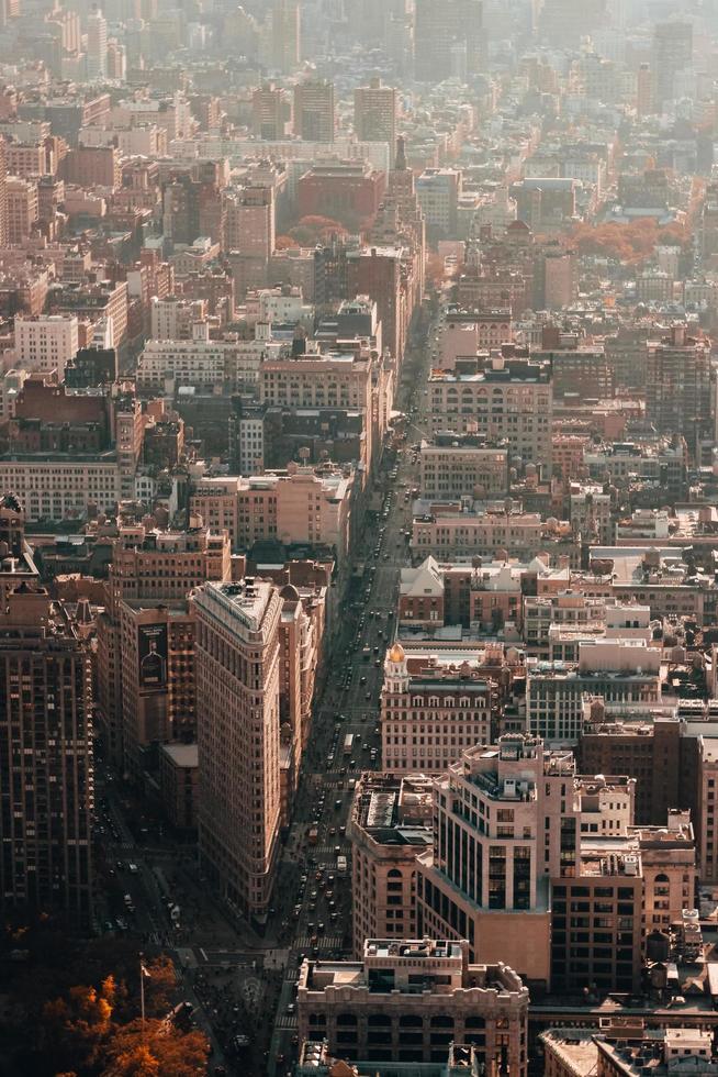 luchtfotografie van de stad foto