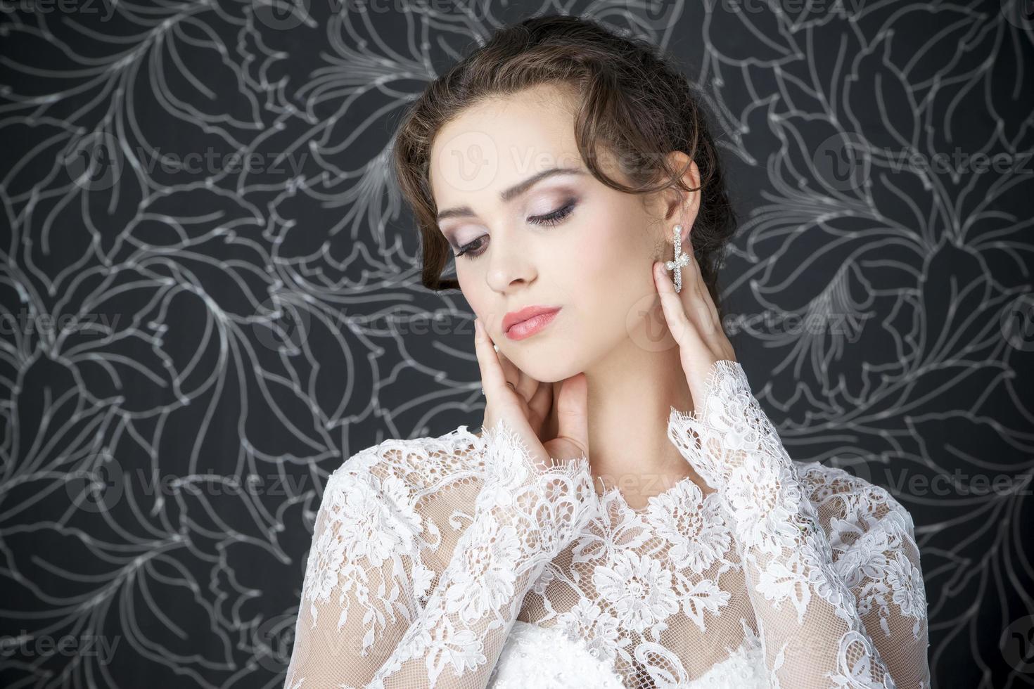 professionele make-up kapsel bruid foto