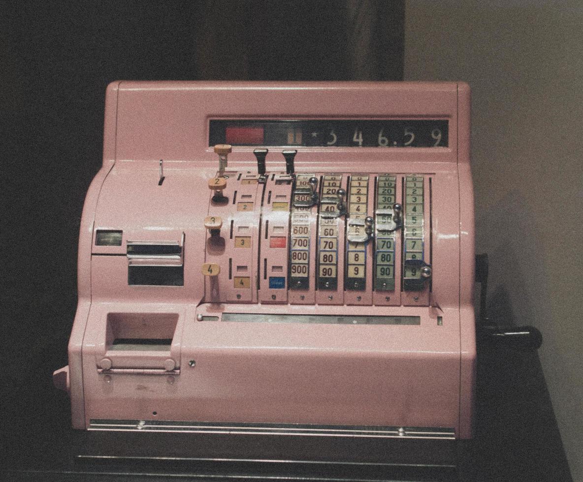 generieke vintage kassa foto