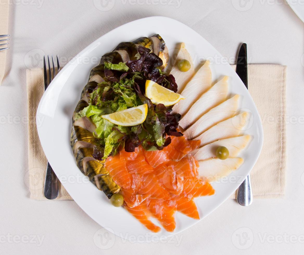 close-up gastronomisch vlezig hoofdgerecht foto