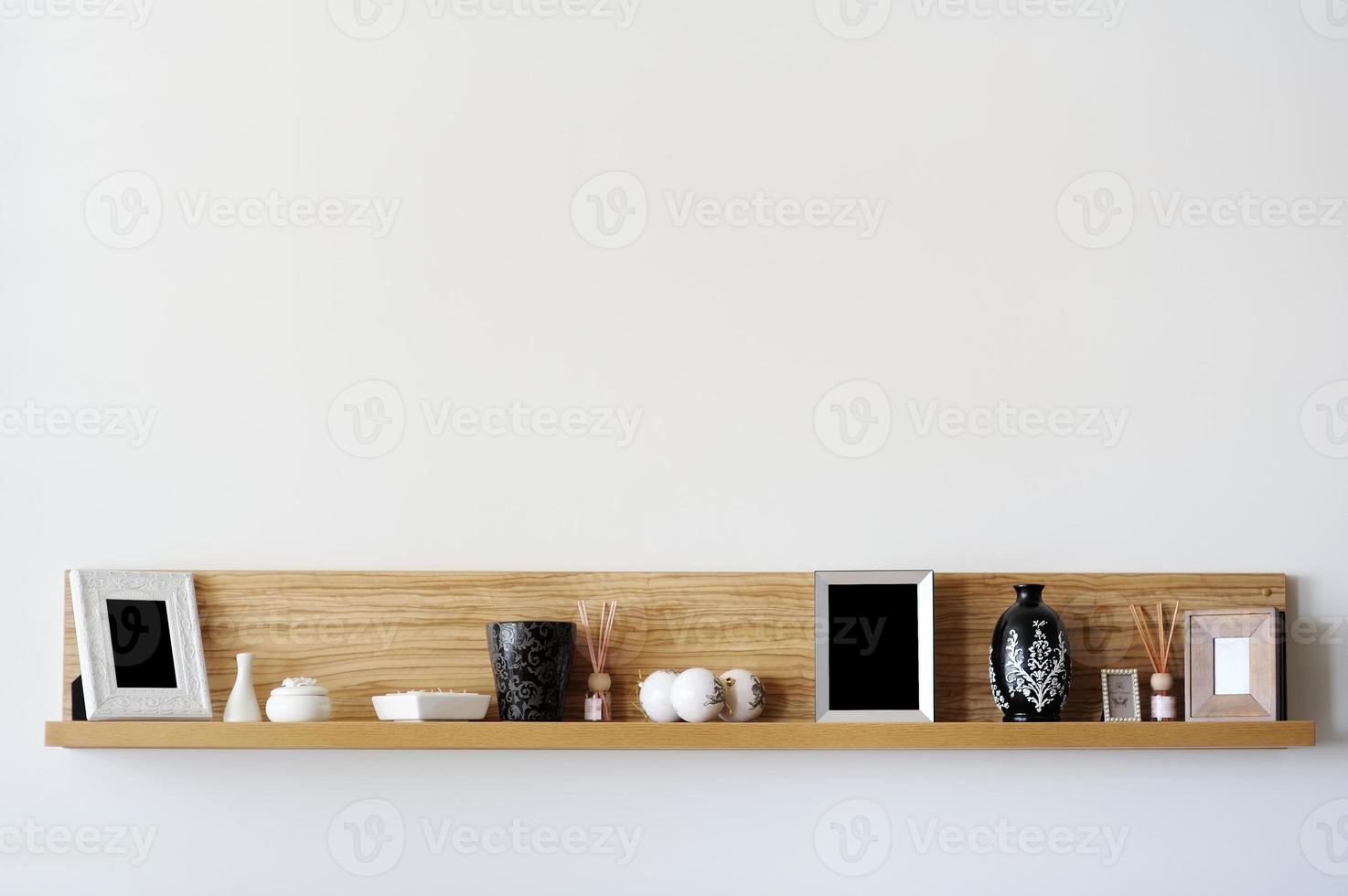 stijlvolle boekenplank foto