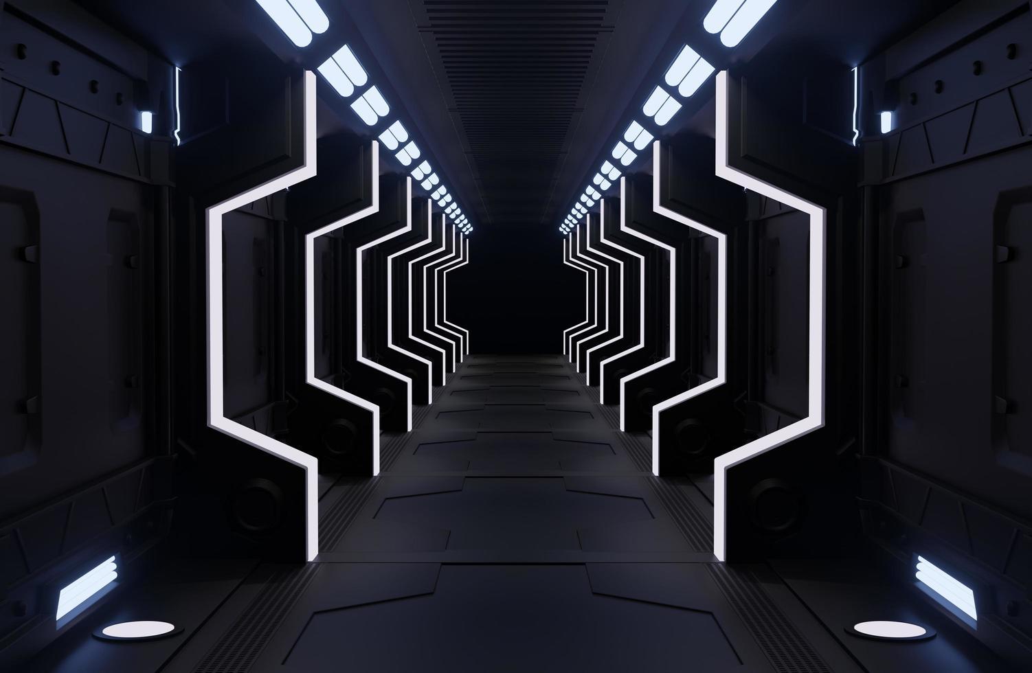 zwart ruimteschip interieur foto