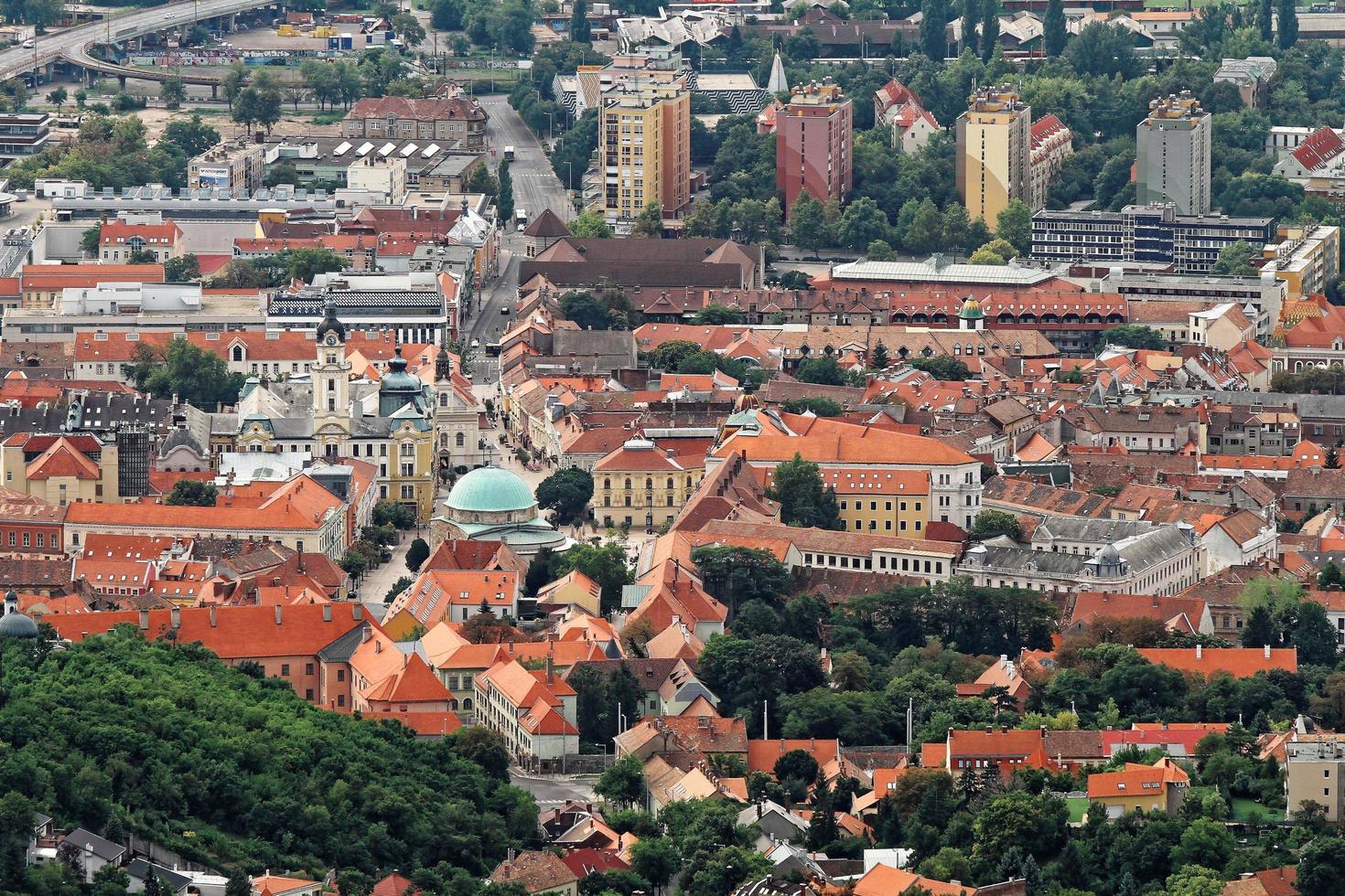 luchtfoto van hongarije foto
