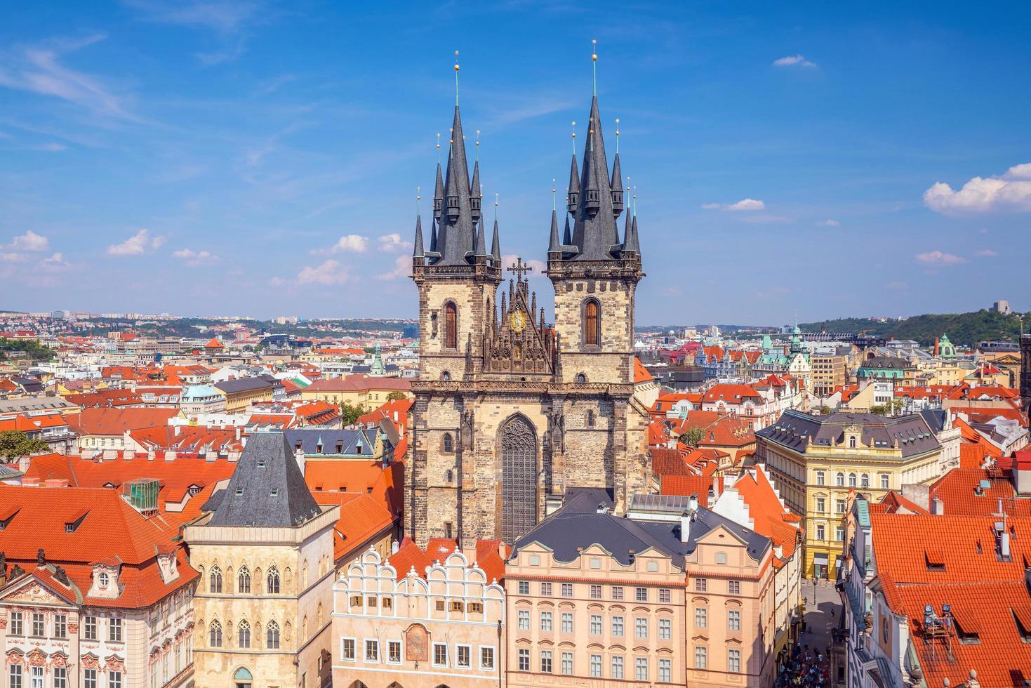 oude stadsplein, Praag, Tsjechië foto
