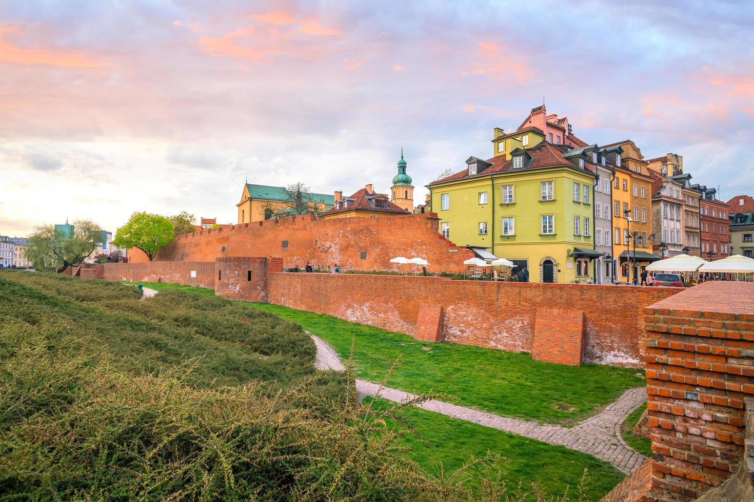oude stad in Warschau, Polen foto