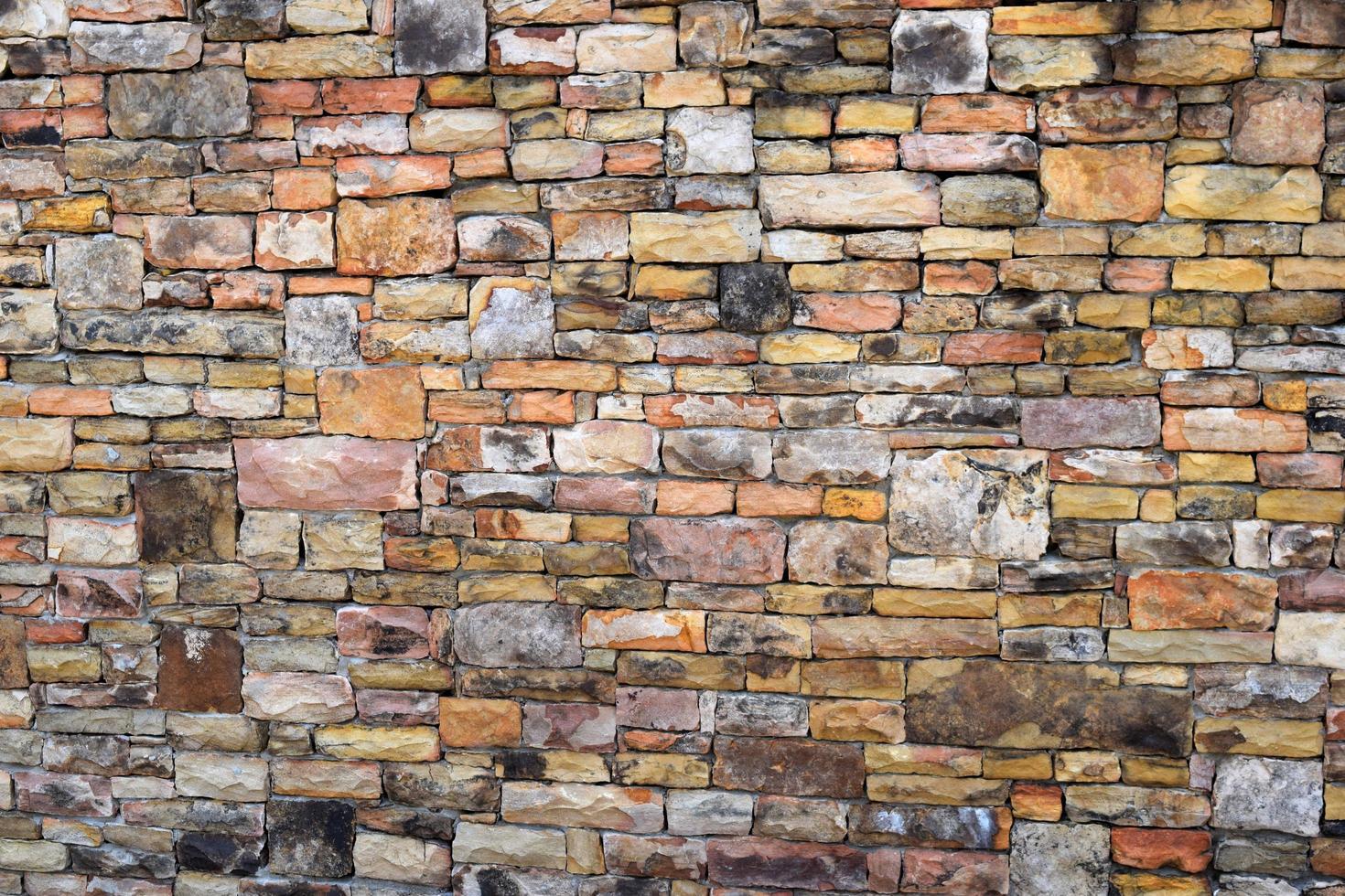 bakstenen muur, buitenaanzicht foto