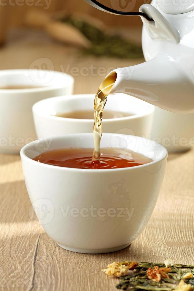 kopje thee 'stromen foto